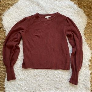 MADEWELL Mauve Puff Sleeve Sweater Medium